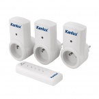 Set of three remote-controlled sockets Kanlux APO TM-3