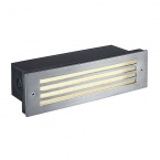SLV BRICK MESH LED stainless steel 316 recessed wall lamp